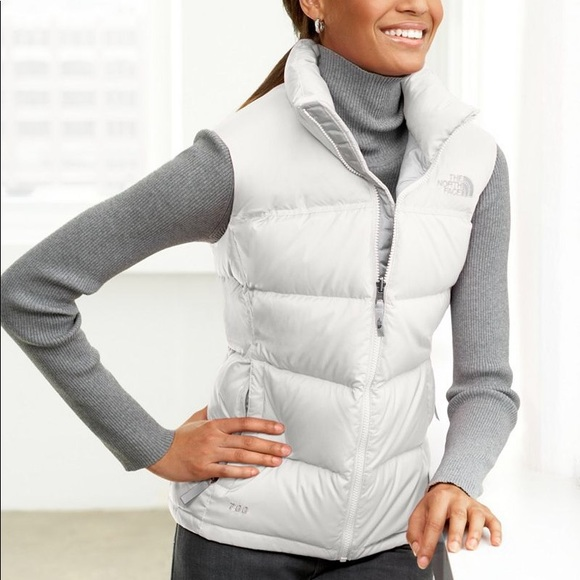 fef99b640 Women's north face white puffer vest